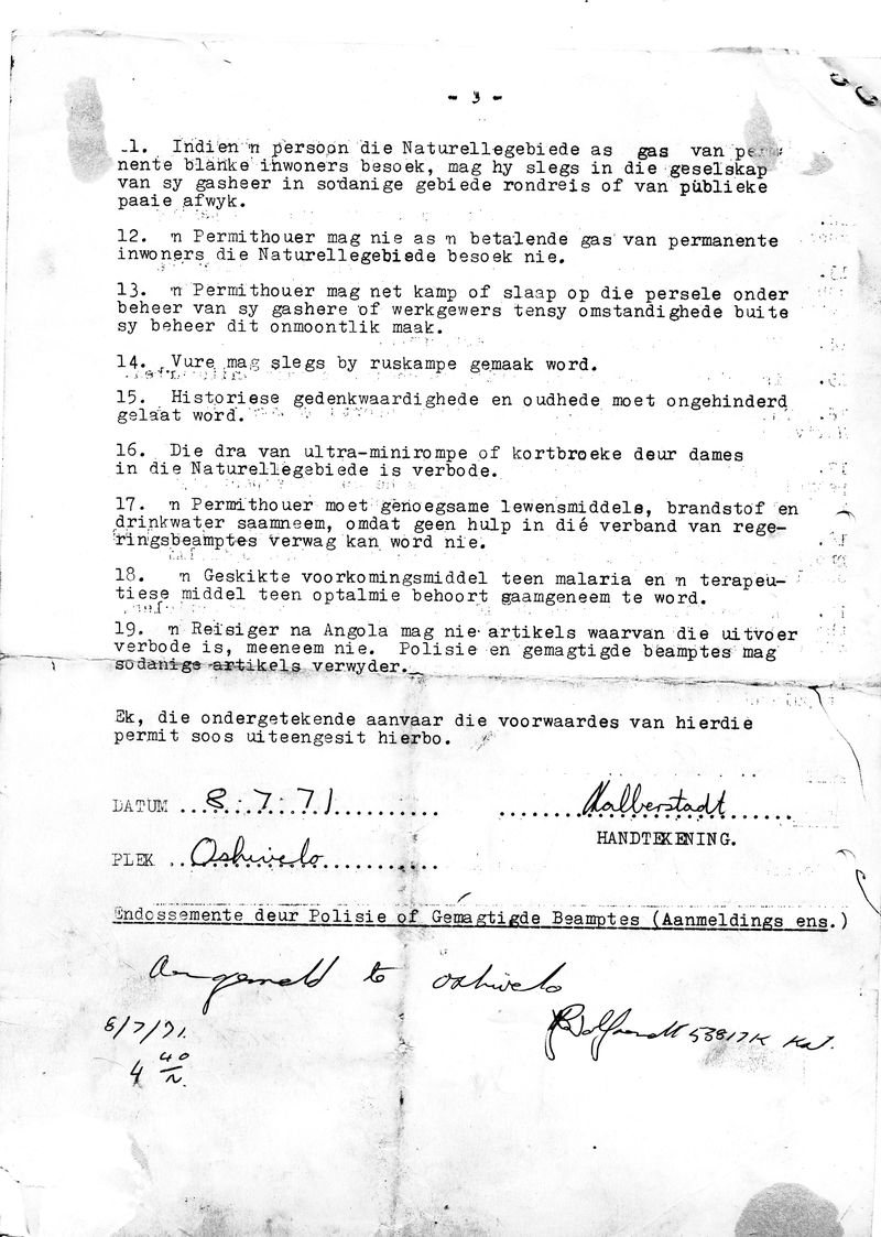 My permit to enter Owambo July 8 1971_p3