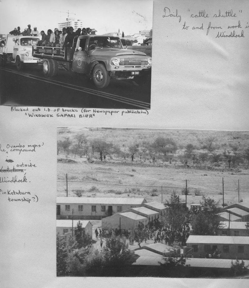 Photies by Steve H for Windhoek Advertiser Dec 71 strike