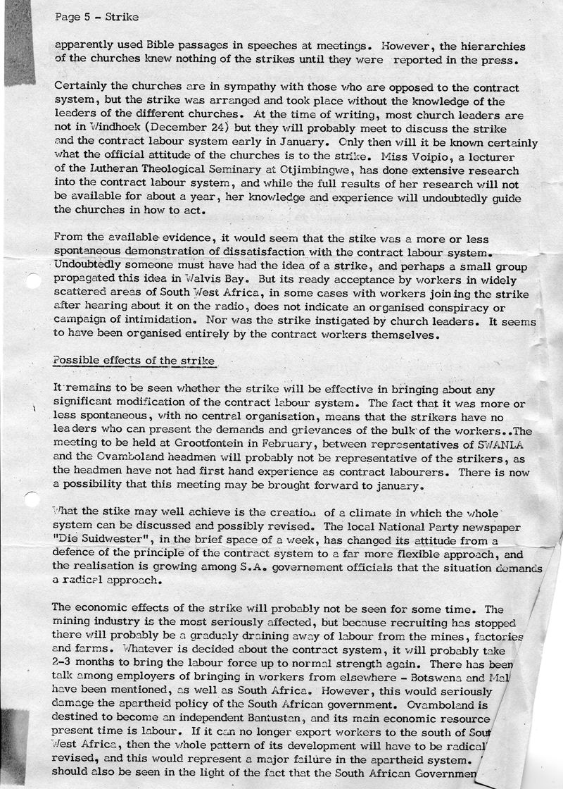 Owambo Strike Windhoek Dec 1971 S Hayes Diocesan report_p5