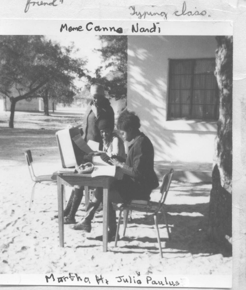 The so-called Typing Class_ Martha Hamola  Julia Paulus  Canner Nandi looking on